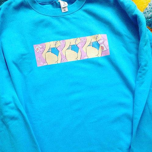Bahama Blue 'Peachy' Unisex Sweatshirt  *SAMPLE*