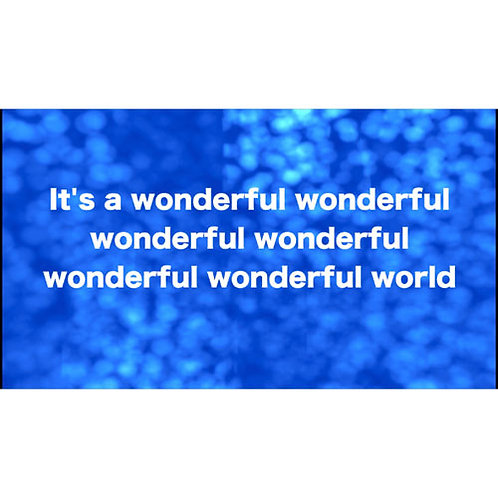 It's a wonderful wonderful world - Lyric Video Scripture Union 2020 theme song
