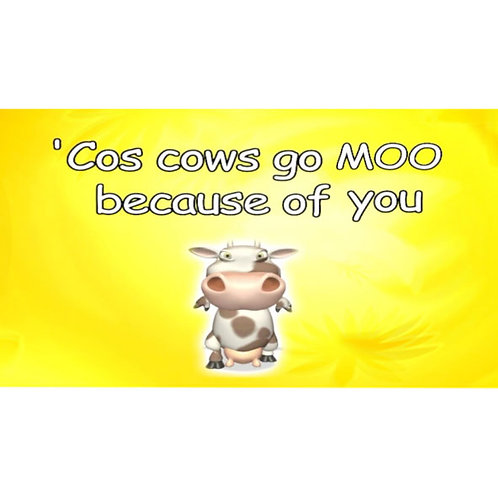 Cows go moo Lyric Video - Downloadable