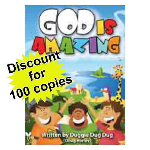 God is Amazing A6 Booklet 100 copies - discounted