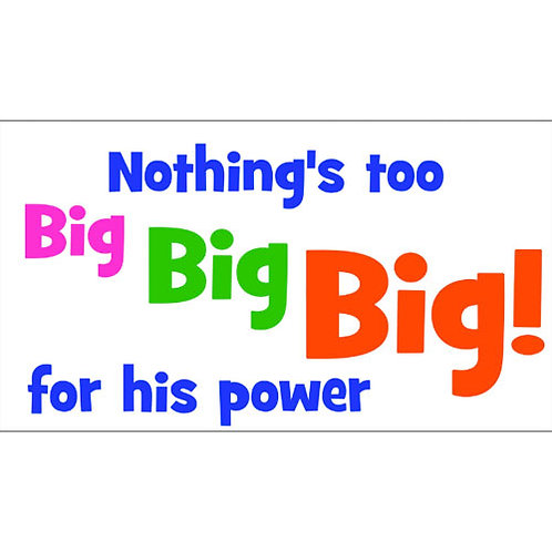Nothing's Too Big Lyric Video - Downloadable