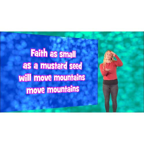 Faith as small as a mustard seed Lyric Video with actions - Downloadable