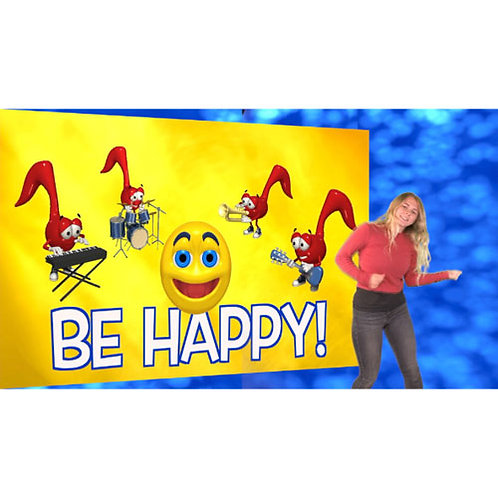 Be Happy (I'm gonna jump up and down) - Lyric Video With Actions Downloadable