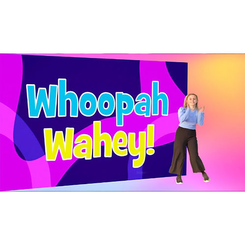 Whoopah Wahey Lyric Video with actions - downloadable