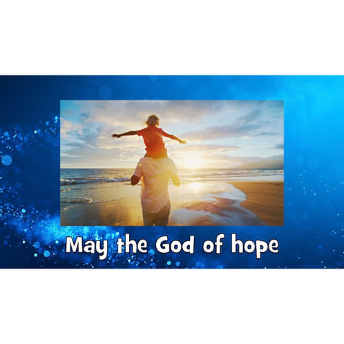 May the God of Hope Lyric Video- Downloadable