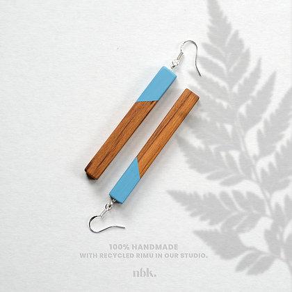 Blue & Rimu - Sterling Silver Earrings