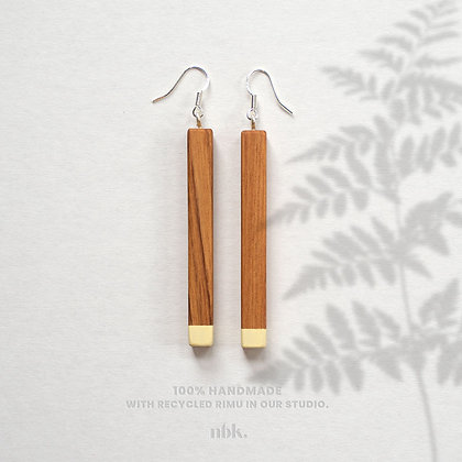 Yellow & Rimu - Sterling Silver Earrings