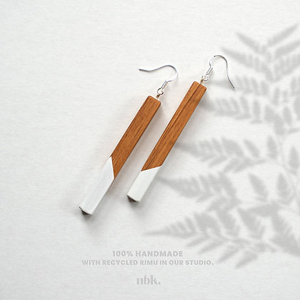 White & Rimu - Sterling Silver Earrings