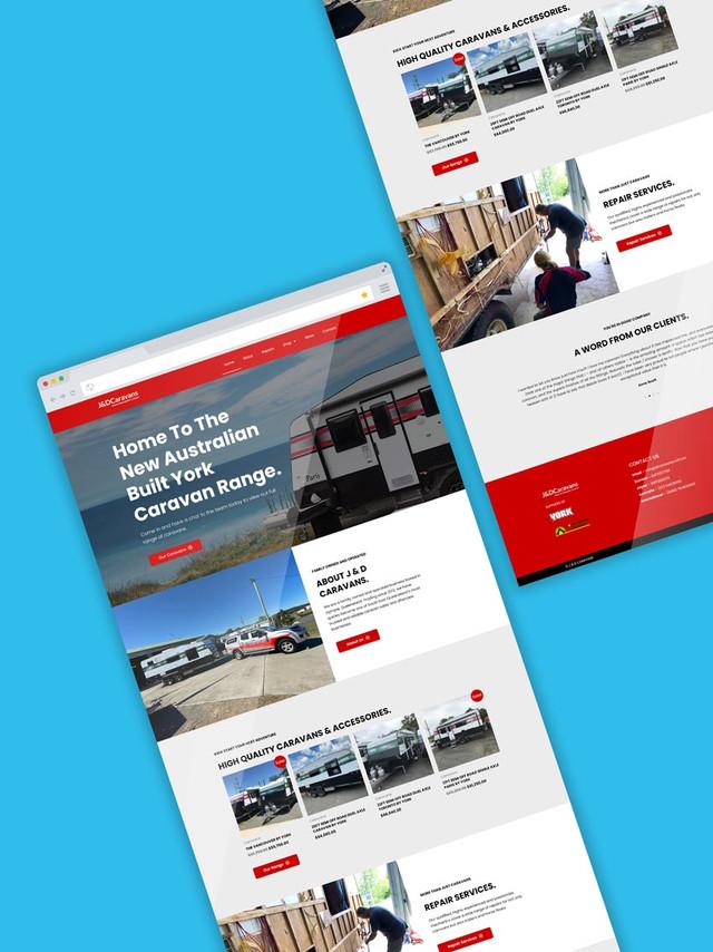 Website Design for J & D Caravans