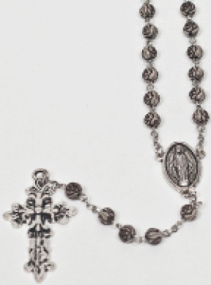 Rosary Silver & White Metal