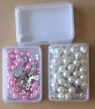 Rectagular PVC Rosary Box only