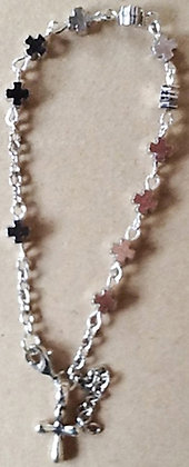 Oxidized Silver Car Rosary