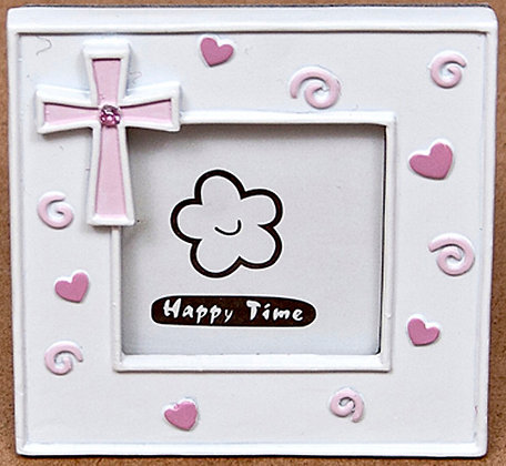 Picture Frame Pink Cross [14739]