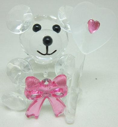 Pink Glass Teddy Bear