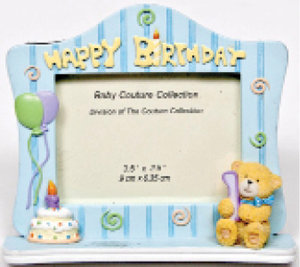 Blue Happy Birthday Picture Frame