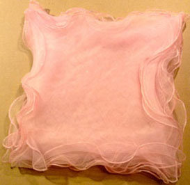 Vails Pink organza with silver border [21106]