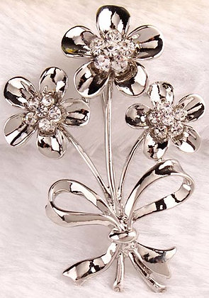 Brooches Bow gold/Silver