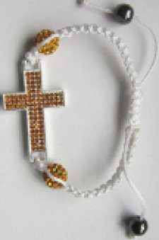Shambola with White Silk Rope in different color crosses