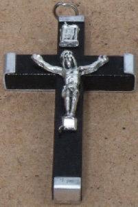 Crucifix Wooden Black Small [15120]