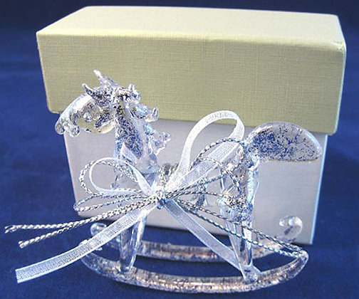 Glass Rocking Horse with Gift Box