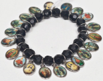 All Saints Bracelet with Black Beads