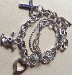 Charms Bracelet with Double Chain