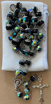 Rosary Glass beads Black