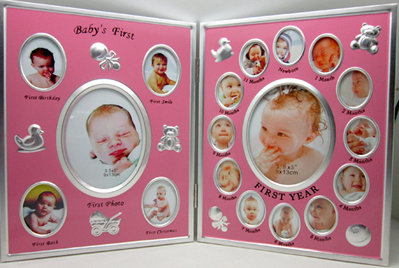 Pink Baby Multi Picture Frame