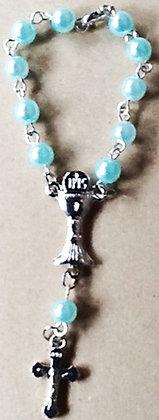 Communion bracelet/Car Rosary Blue