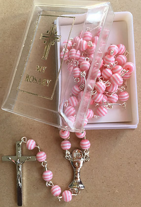 Pink Communion Rosary