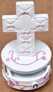 Baby Cross -Chest Pink Bows [14748]