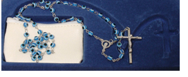 Rosary Cat eye Beads Blue
