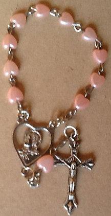 Bracelet Pink Heart shape Pearl