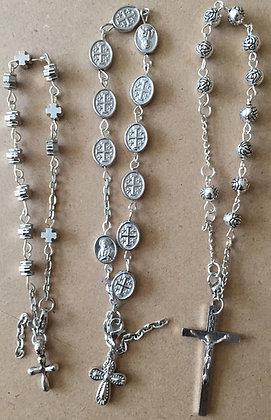 Oxidized Silver Car Rosary