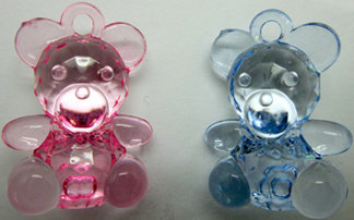 Teddy Bear acrylic 2 colors [54112-113]