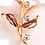 Thumbnail: Brooch Alloy Gold Lilly shape [11326-3]