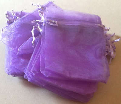 Purple Organza Bag