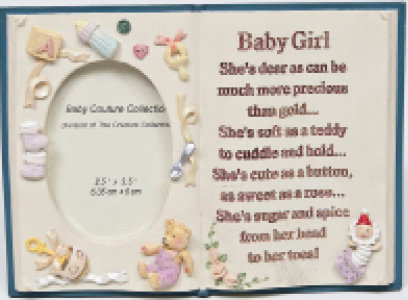 Picture Frame book for Baby Girl [11-7716]