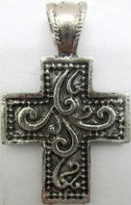 Cross Pendent Antique finish Metal [54005]