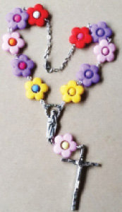 Multi-Color Car Rosary