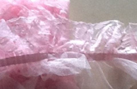 feather style veils Pink [54561]