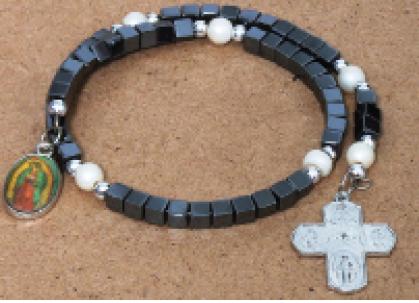 Bracelet Hematite stone Sq. Black