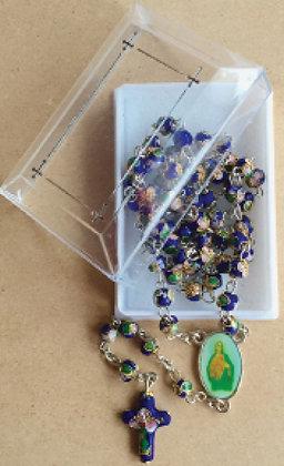 Rosary Cloisonne work Blue