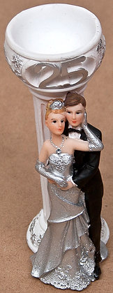 25th/5oth Anniversary Cake Topper / Candle Holder [12-126]