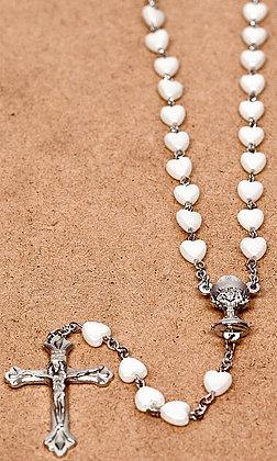 Heart Shape Pearl Rosary
