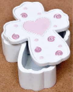 Baby Cross Box with Pink Heart
