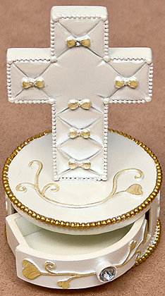 Baby Cross chest & Ivory Bows [14749]
