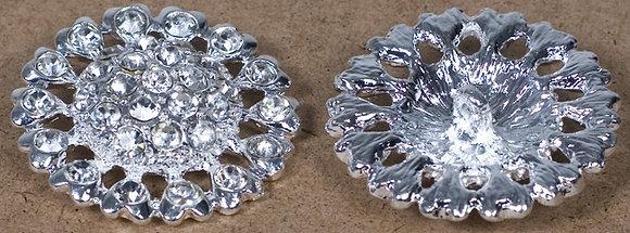 Broche Alloy Circular stonesin middle [17188]