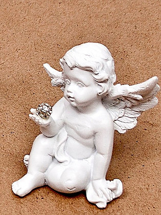White Angel Crystal Ball in right hand 12-345-3