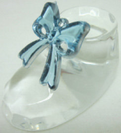 Baby Blue Bow Crystal Shoe